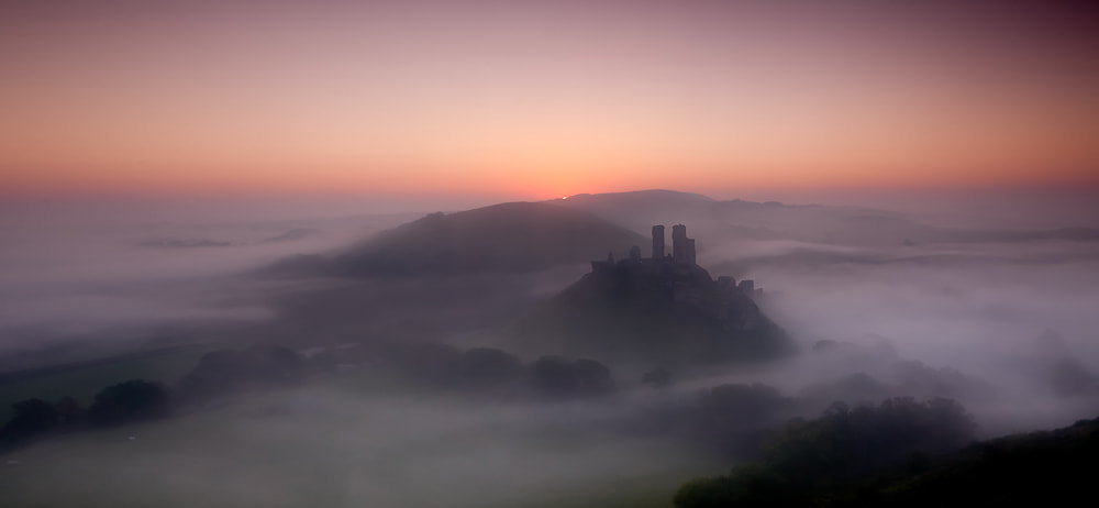 Photograph First light - Corfe Castle by Keith Burtonwood on 500px