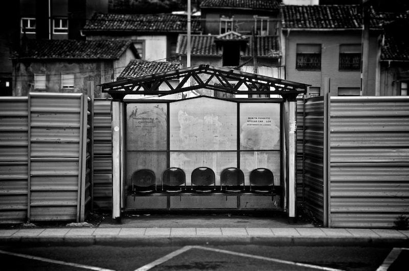 Photograph Bus Stop by Ismael Salmerón on 500px