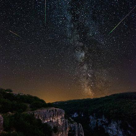 The Perseids and Milky Way