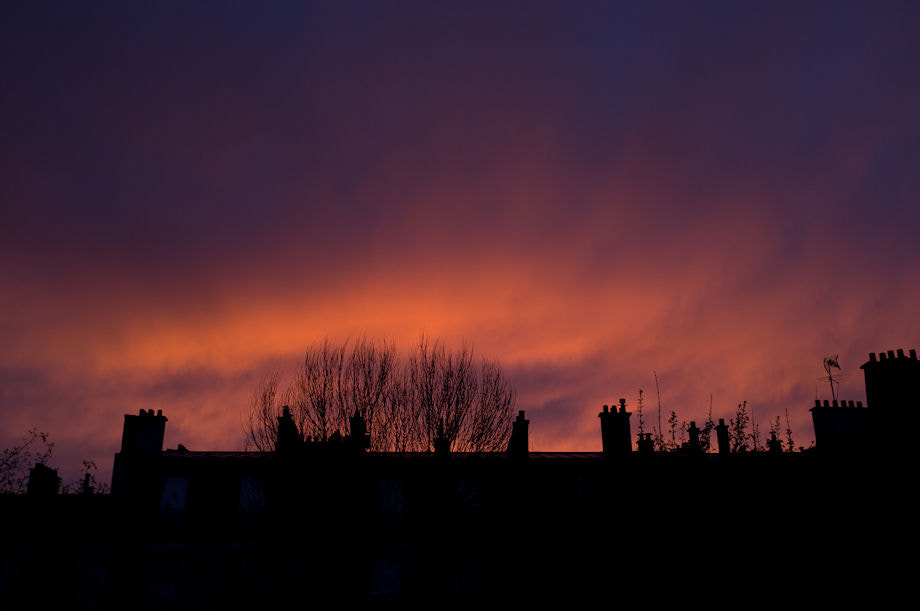 Photograph Red skies over Montrouge by Olivier Legrand on 500px