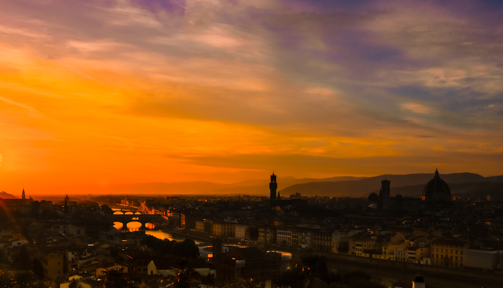 Photograph Florence at sunset by Richard Desmarais on 500px