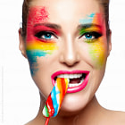 Постер, плакат: Fantasy Makeup Painted Face Lollipop