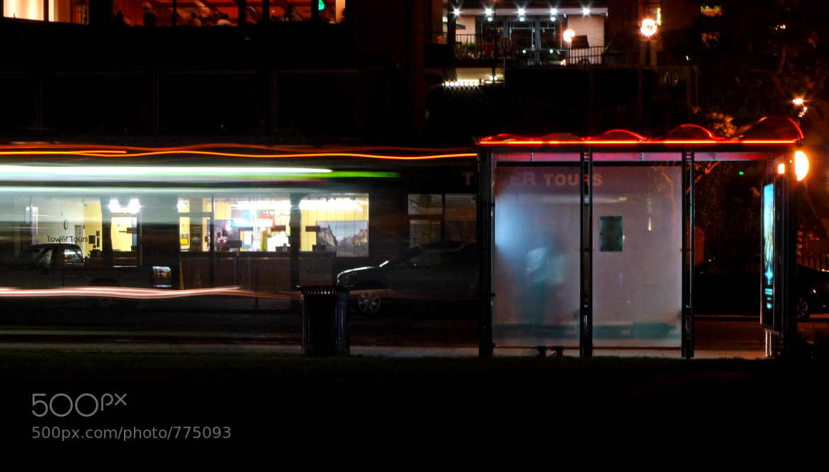 Photograph Man Waiting for the Bus at Night by The Tens on 500px