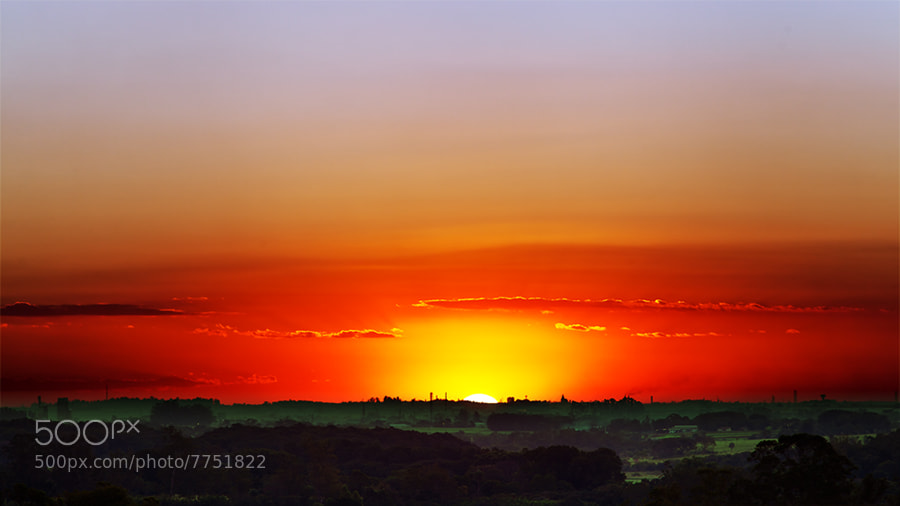 Photograph Sunset over the green fields by Rafael Defavari on 500px