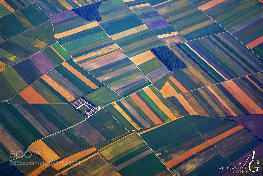 Agriculture, as the birds above Austria see it