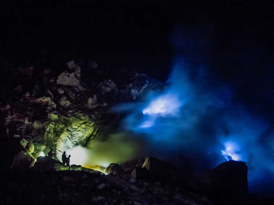 Photograph Kawah ijen blue fire by Yann Pinczon du Sel on 500px