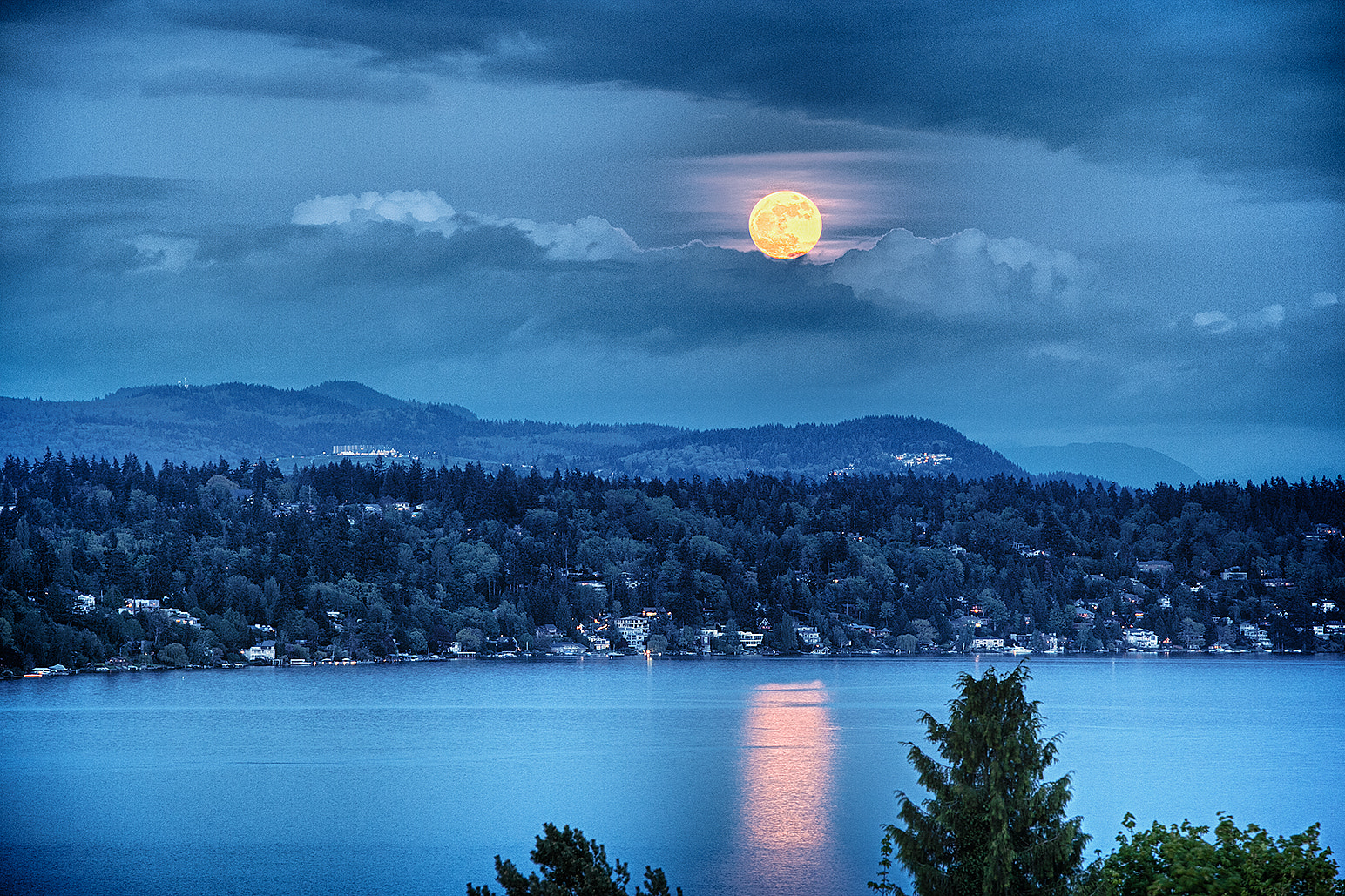 Photograph Super Moon Breaks the Cloud Cover by Jack Markle on 500px
