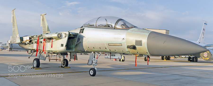 An F-15E Strike Eagle in for full depo maintenance.