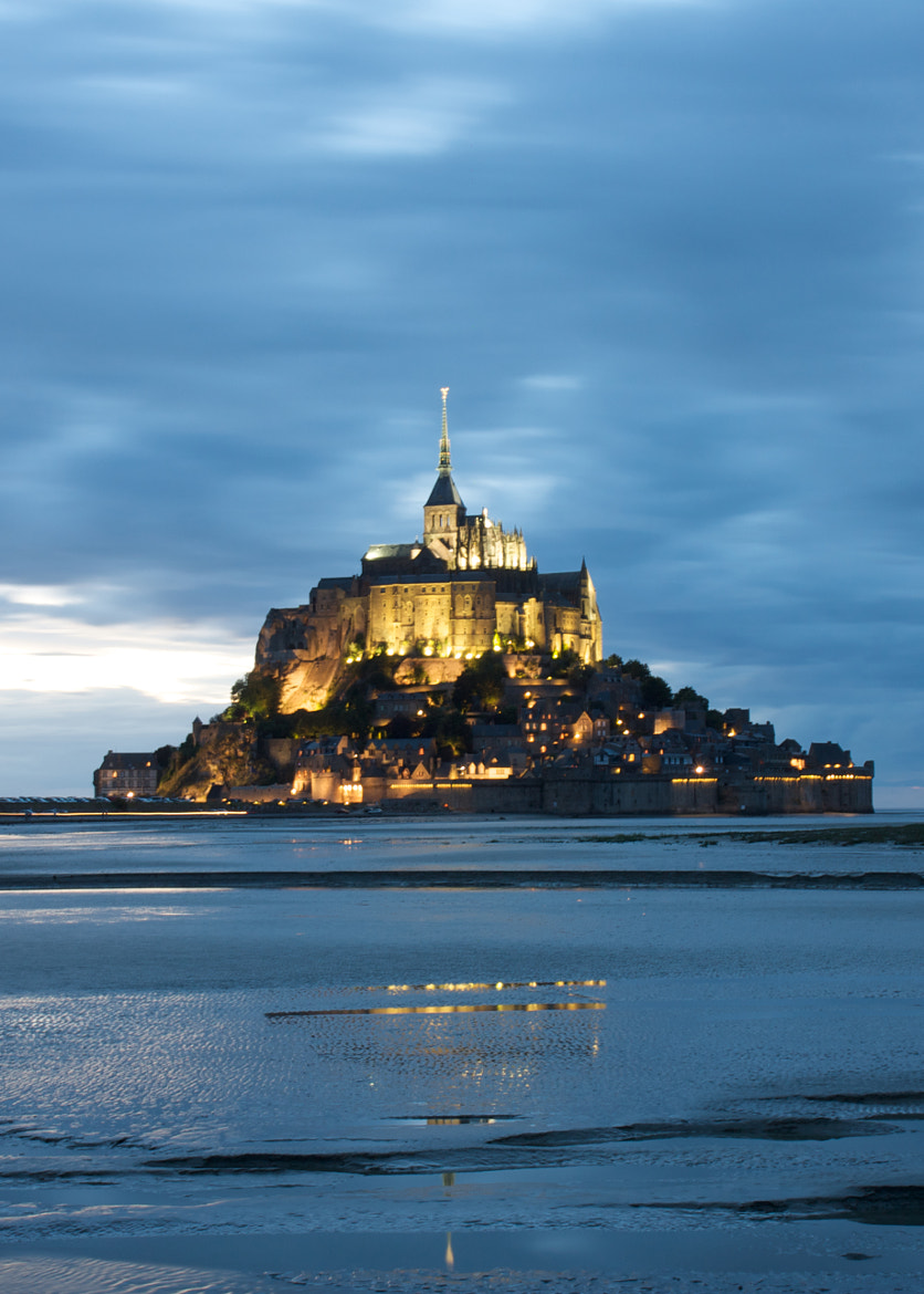 Photograph Mont Saint Michel @ night by Wesley Vercammen on 500px