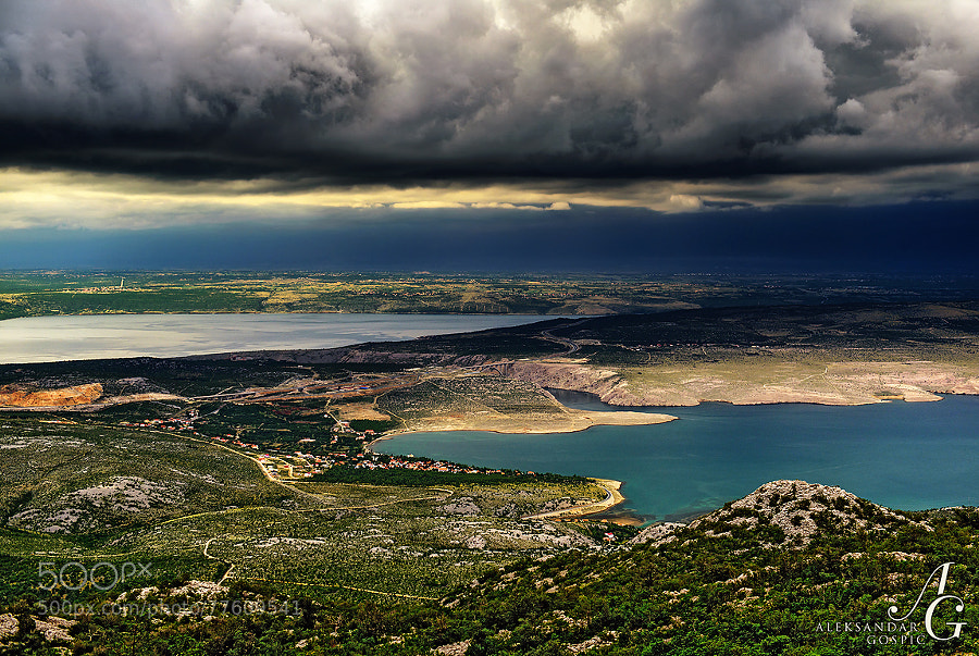 A day that has just dawned above Novigrad sea, Novsko ždrilo gorge and Velebit Channel, is about to be swallowed by the beast of darkness from the west