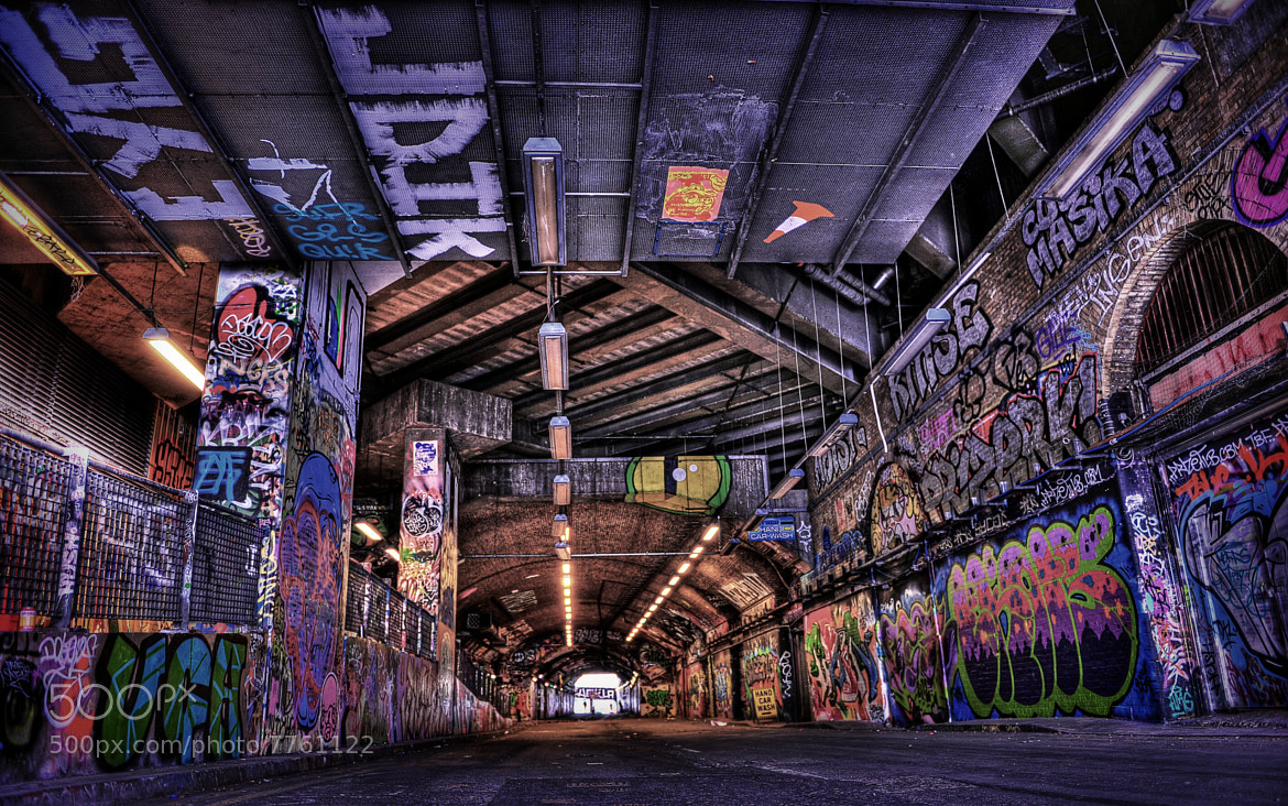 Photograph Banksy's Tunnel 2 by Iain Blake on 500px