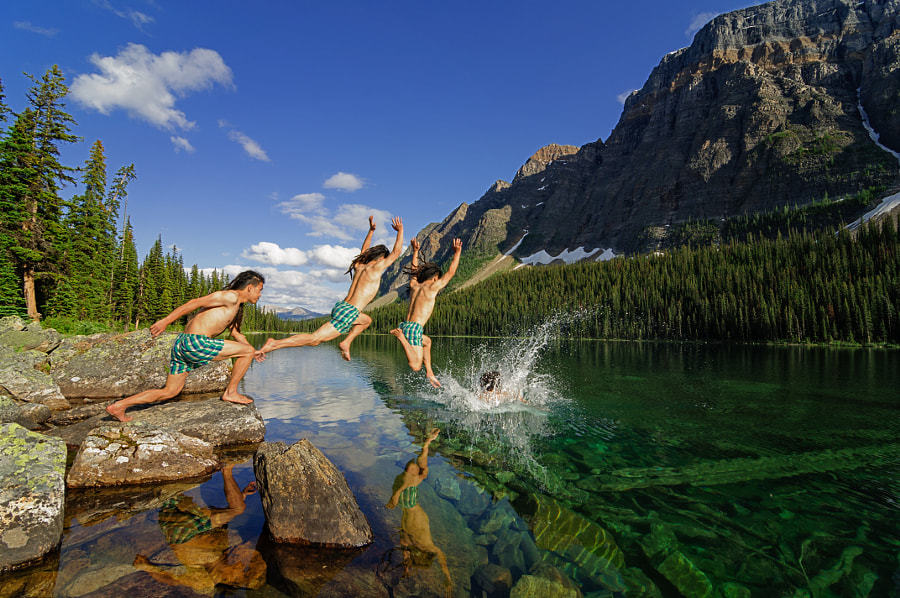 Photograph Selfie, Boom Lake Banff by flyingfishtw on 500px