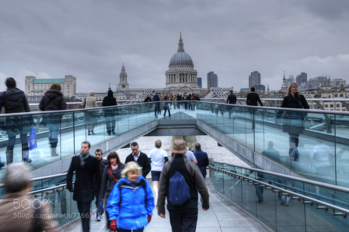 Photograph Millenium Bridge hdr by Marco Dall'Omo on 500px