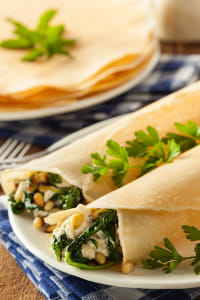 Delicious Homemade Spinach and Feta Savory French Crepes by Kimberly Potvin on 500px