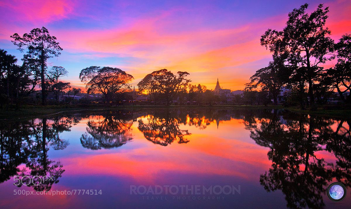 Photograph Sunset in Yangon by Road to the moon // Travel Photography // on 500px