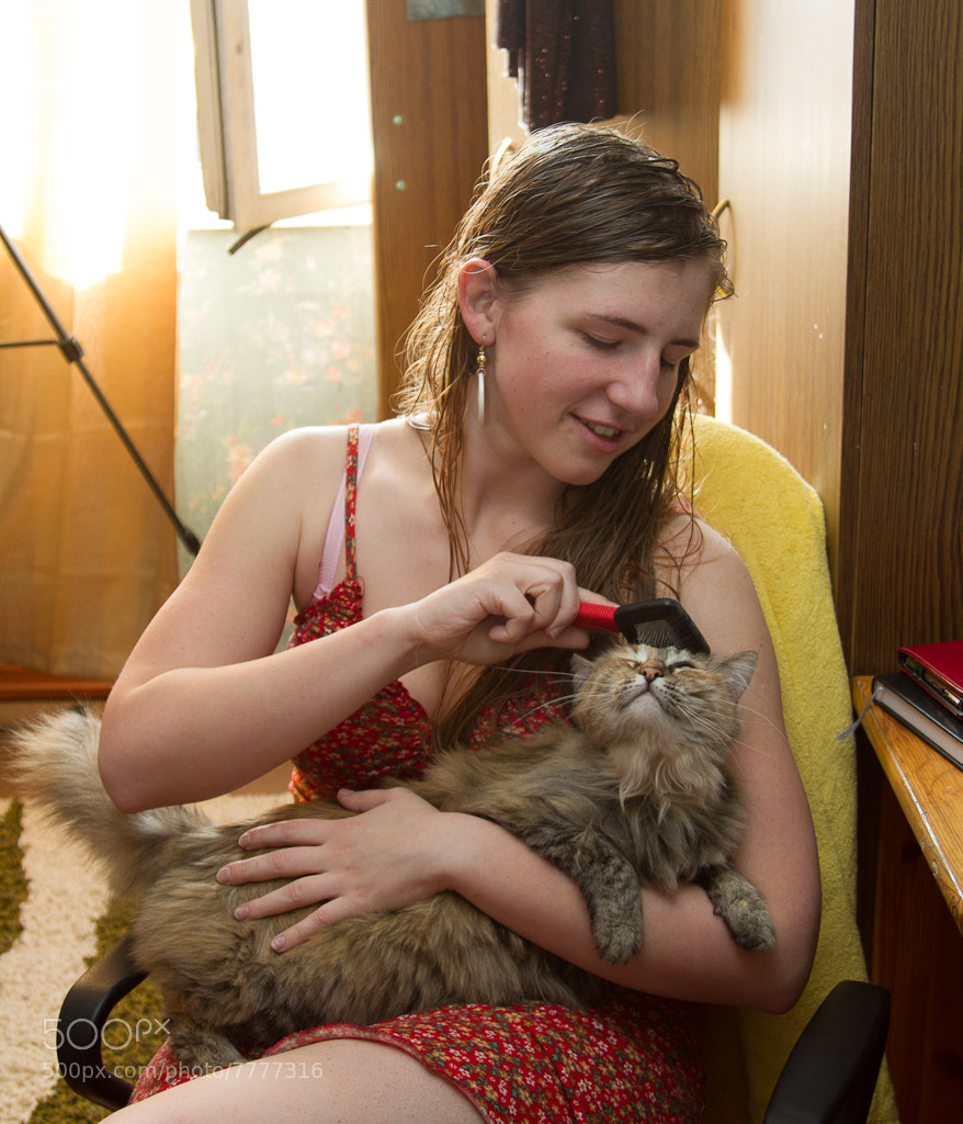 Photograph Lady with a cat. Historical transformation V by Dace Znotina on 500px