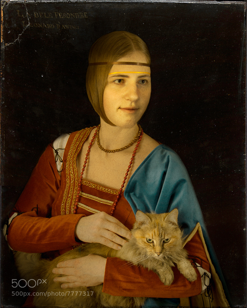 Photograph Lady with a cat. Historical transformation I by Dace Znotina on 500px