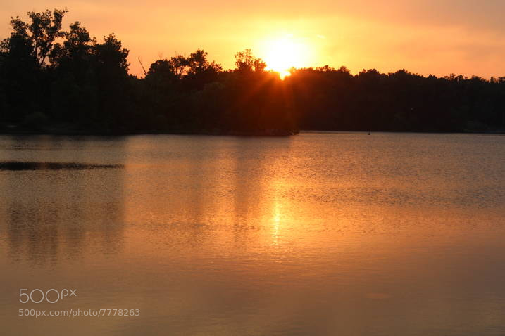 Photograph Baltz Lake Sunset by Mike Fry on 500px