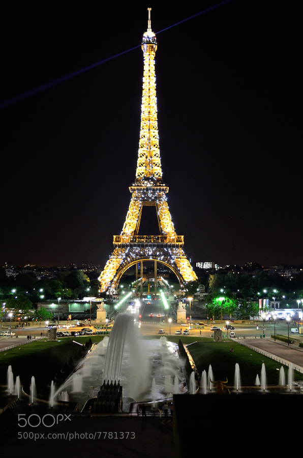 The tower from Trocadero by Michelangelo Rinelli (tixxio) on 500px.com