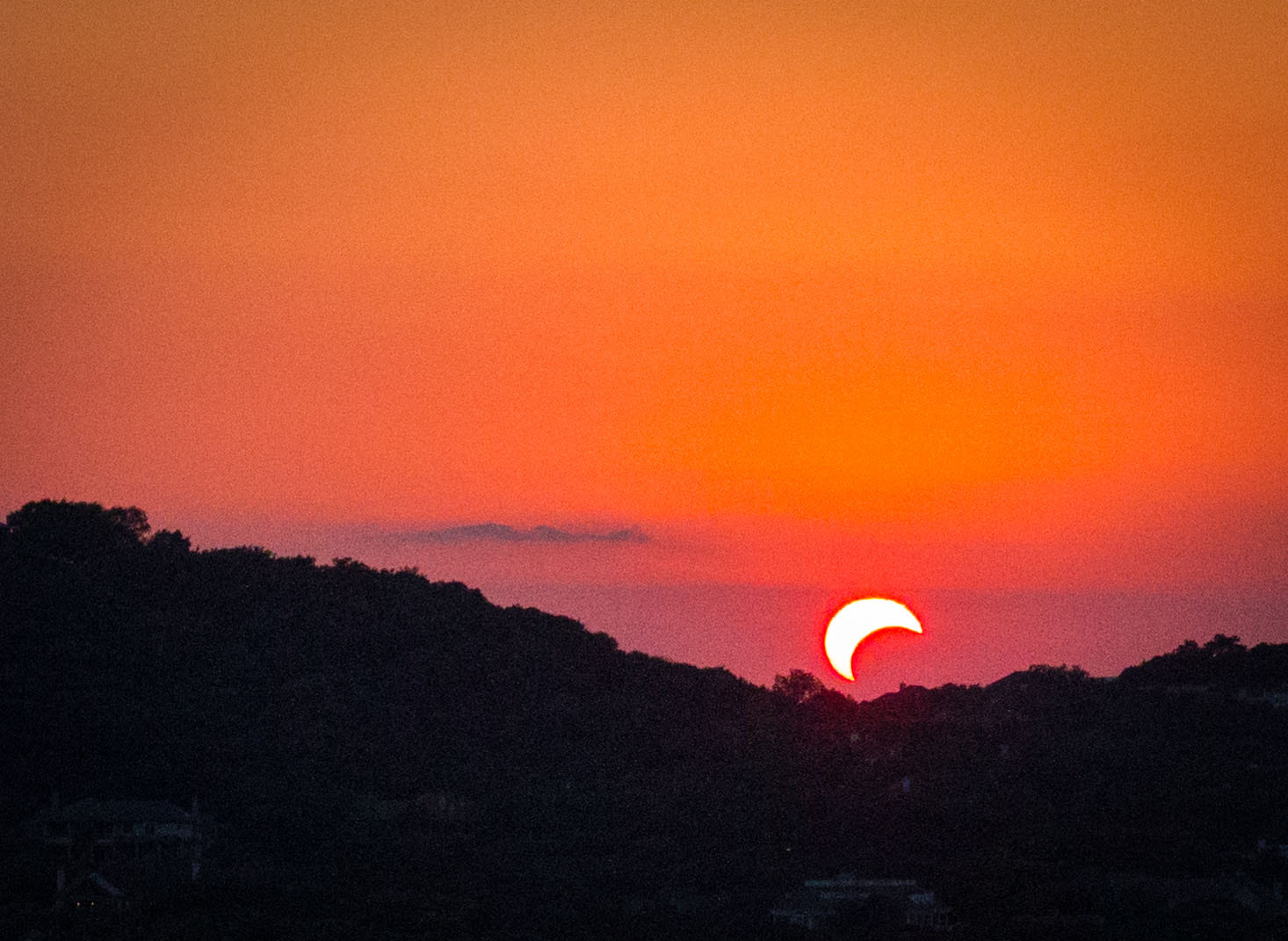 Photograph Setting Solar Eclipse by Andrew Takano on 500px