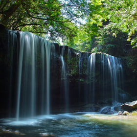 waterfalls in fresh green by Junya Hasegawa (JIN-X3)) on 500px.com