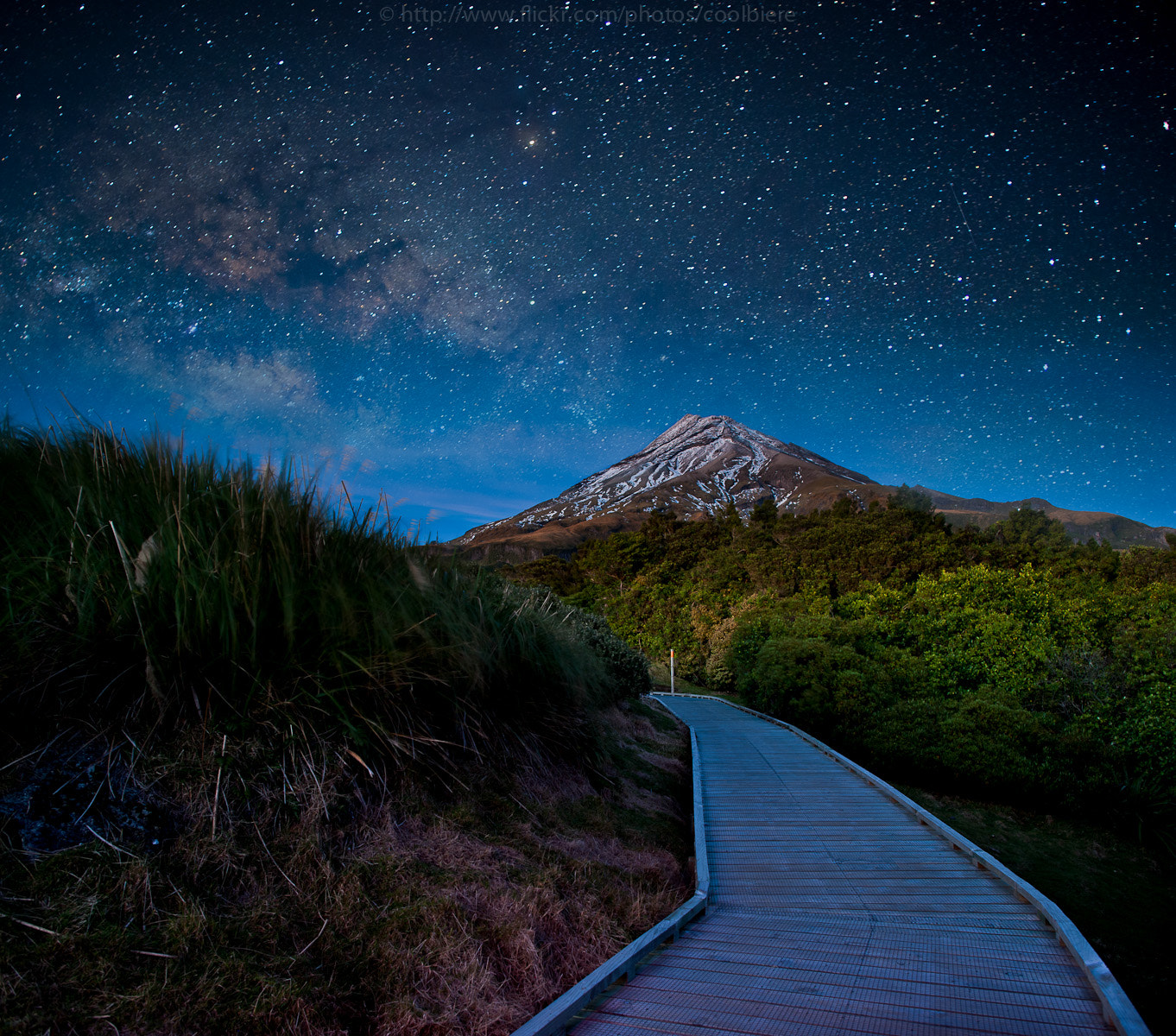 Photograph Mt. Ekmont at night by Coolbiere. A. on 500px