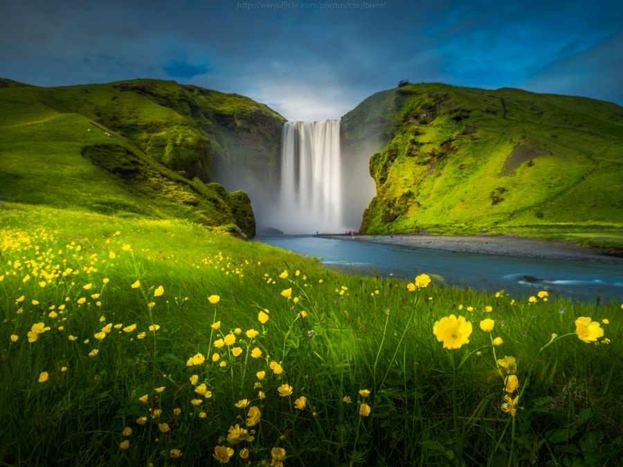 Photograph Summer Skogafoss by Coolbiere. A. on 500px
