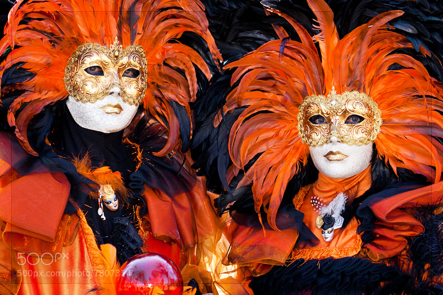 Photograph Orange Masks II by Sebastien Papon on 500px