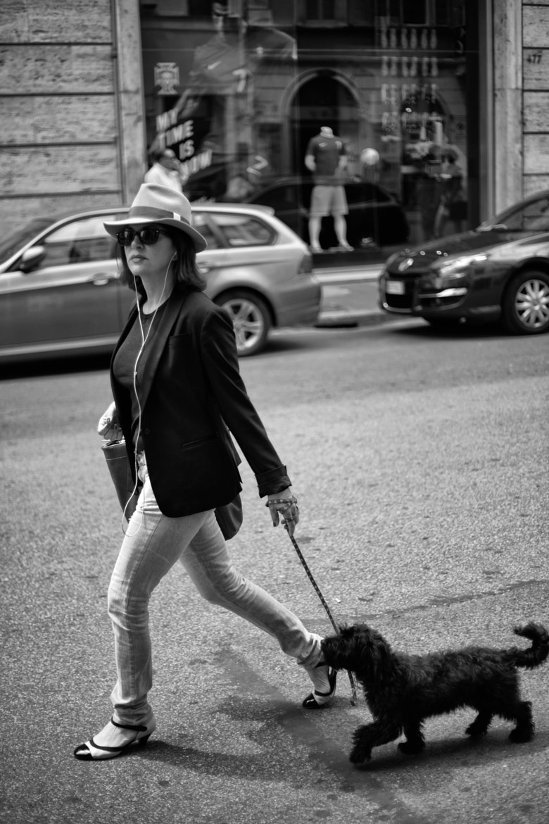 Photograph Stylish Dogwalker by Asher Berry on 500px