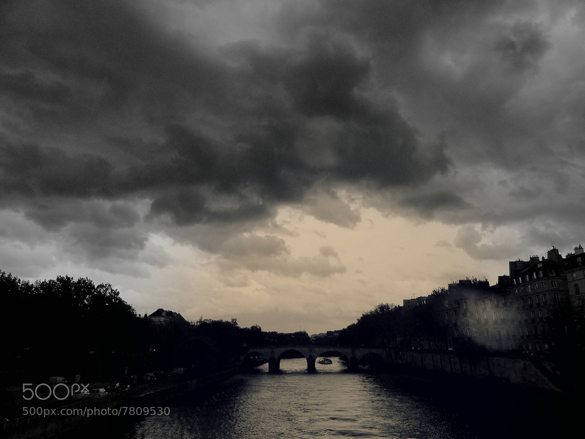 Photograph Dark clouds over the Seine by Felix Antoine on 500px