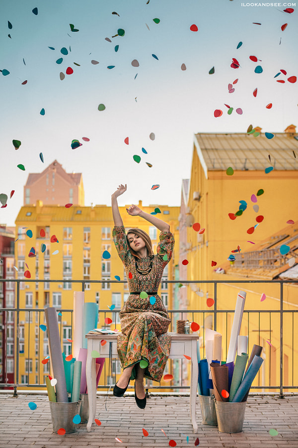 Confetti by Polya Ilchenko on 500px.com