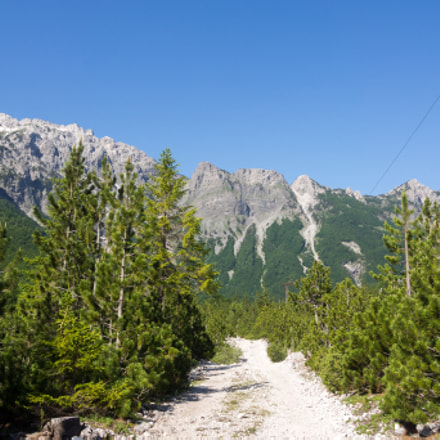 Heading into the Albanian Alps