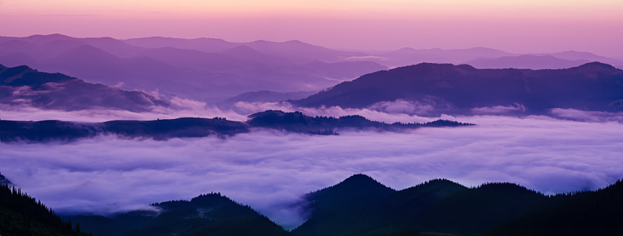 Mountain foggy sunrise by Roksana Bashyrova on 500px.com