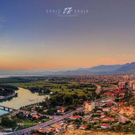 Sunset over Shkodër