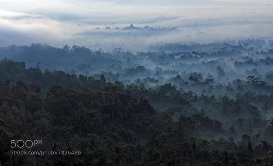Photograph borobudur misty by teguh santosa on 500px