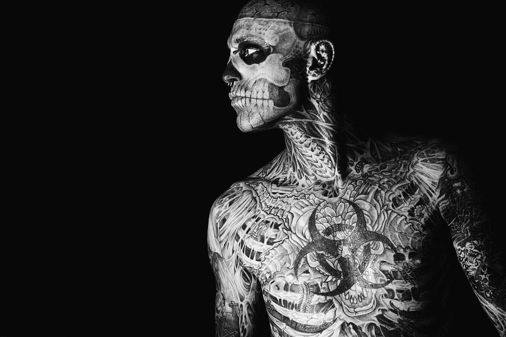 Photograph Rick Genest (Zombie Boy) by Kirill Stepanov on 500px