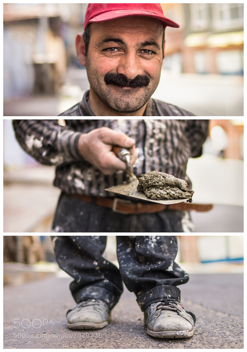 Photograph Triptychs of Strangers #31: The contracted Bricklayer, Balat - Istanbul by Adde Adesokan on 500px
