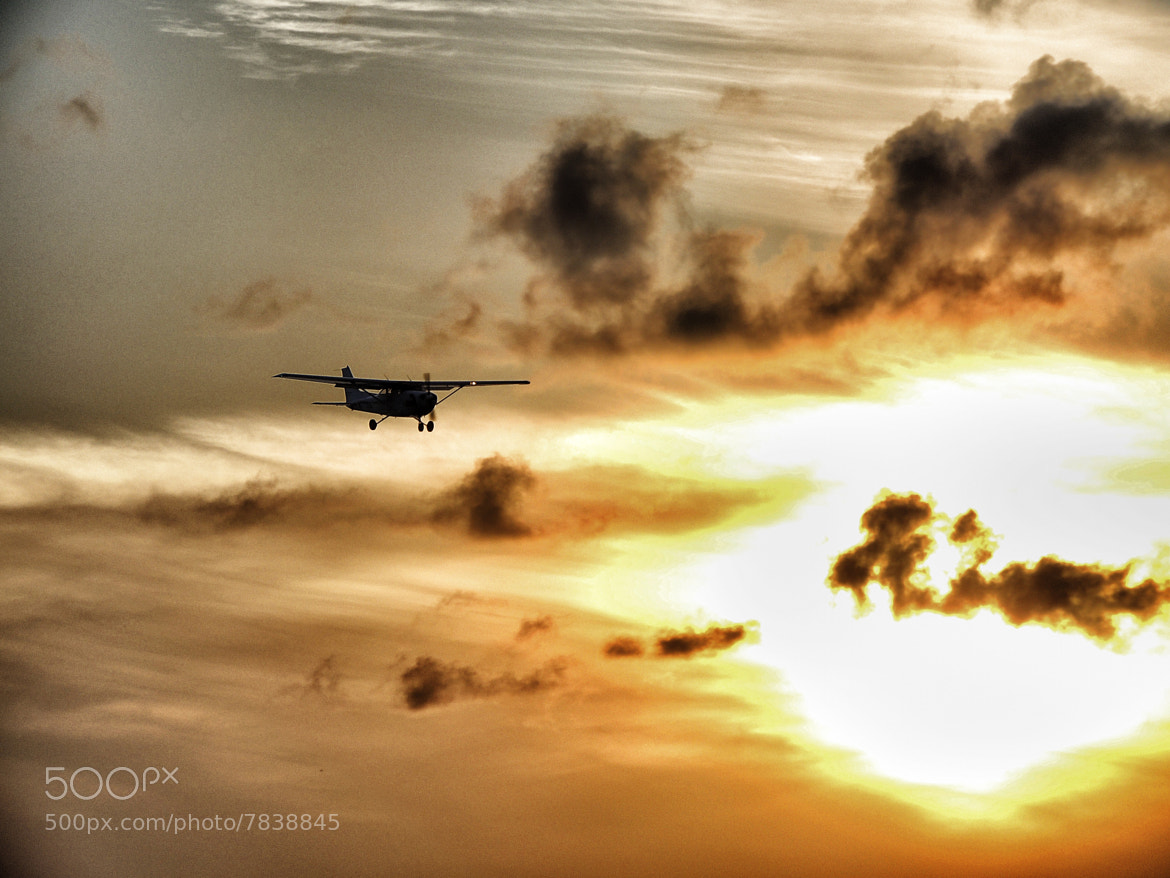 Photograph Plane at sunset by Larry Tyler on 500px