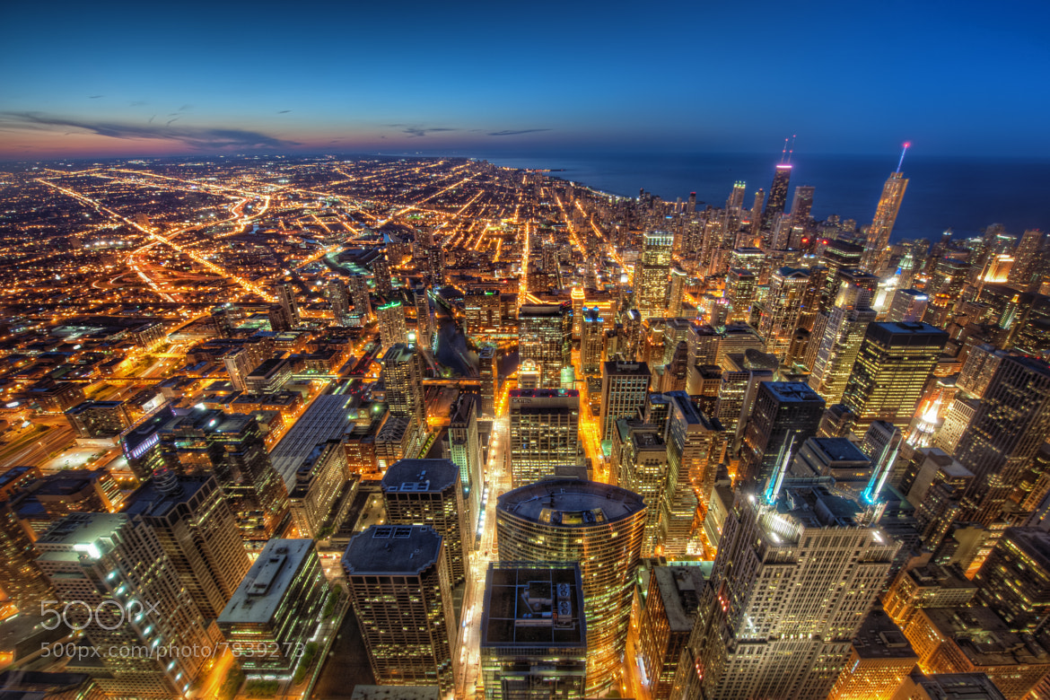 Photograph From the Skydeck: The City at Dusk by Matty Wolin on 500px