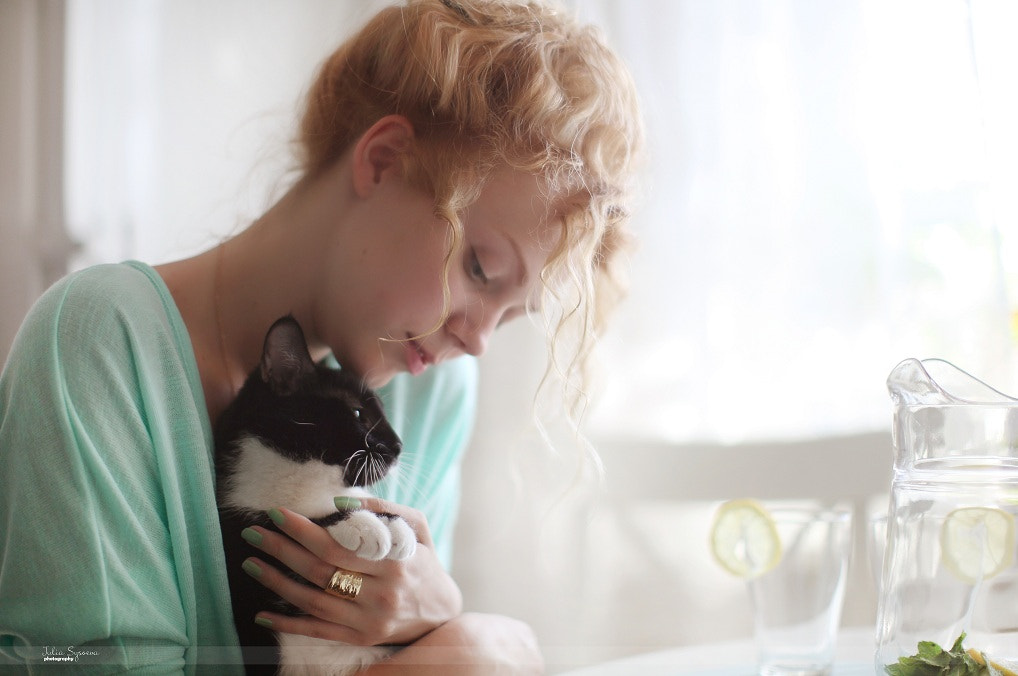 Photograph me & cat by Julia Sysoeva on 500px
