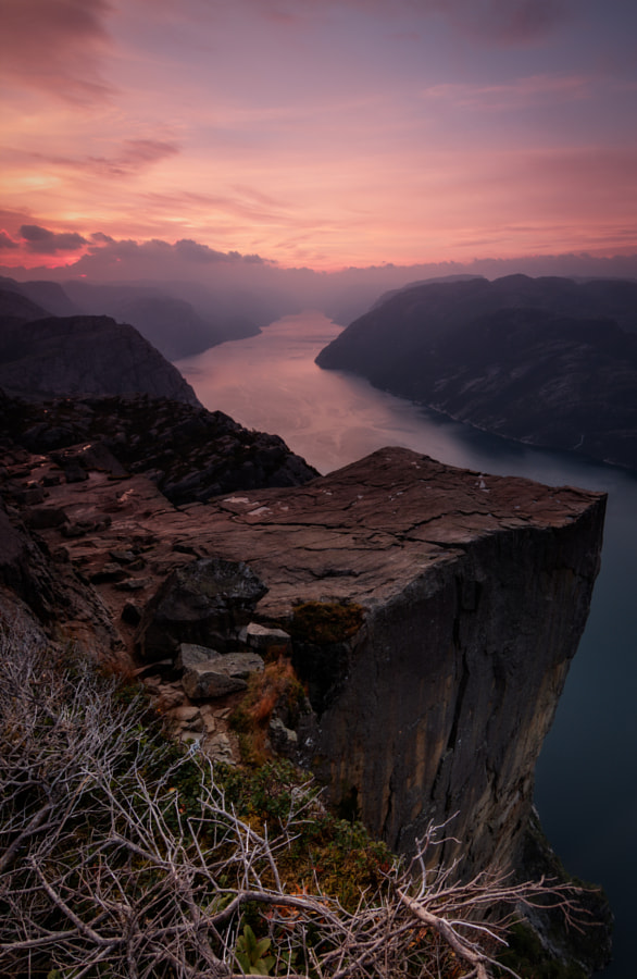 good morning preikestolen
