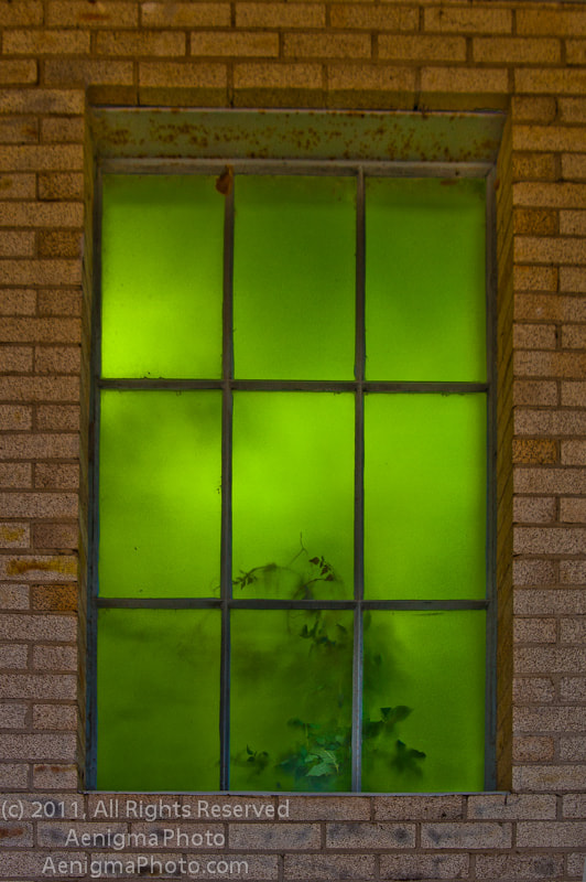 Photograph Green Window by B.D. Poirier on 500px