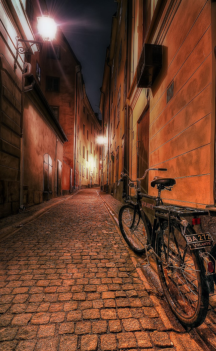 Photograph Bike in the street in Stockholm. by Dawid Martynowski on 500px