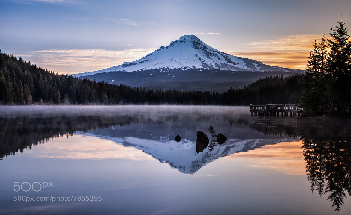 Photograph Sunrise over Trillium Lake by Greg Mills on 500px