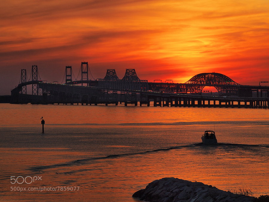 Photograph Chesapeake Bay Bridge Sunset by Phillip Simmons on 500px