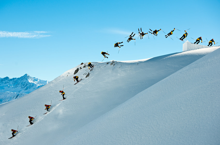 Photograph Skier Sequence by Pally  Learmond on 500px