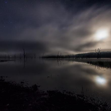 Midnight Moon on the Lake