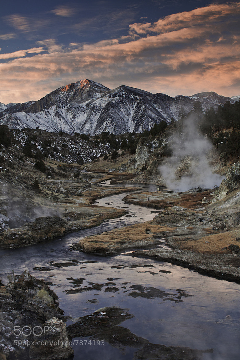 Photograph Hot Creek and Mammoth Mountain, CA by taylor baskin on 500px