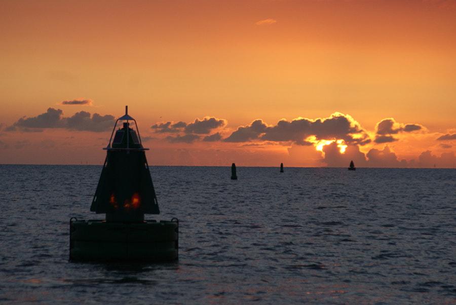 Sun set, buoy