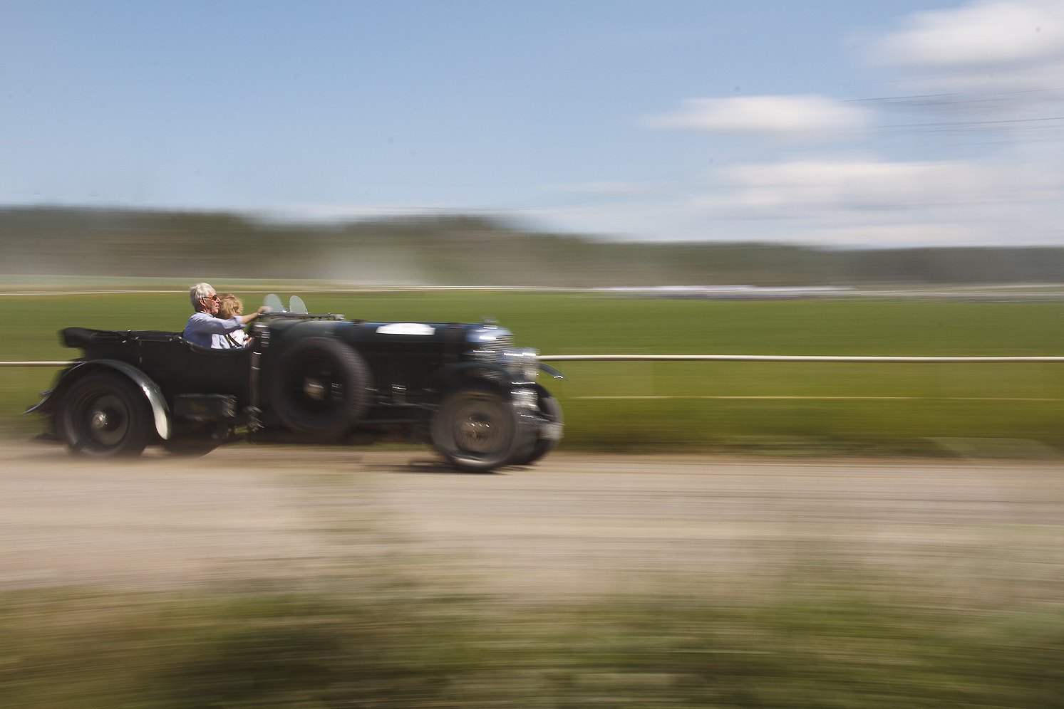 Photograph Vintage Bentley Race by Christer Häggqvist on 500px